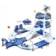 Hunson My First Racing Parking Garage Diecast Police City Station Playset