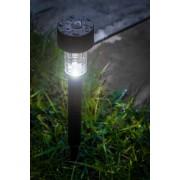 4 db napelemes LED kis fekete lámpa világítás 19 cm