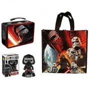 Star Wars Episode 7 Kylo Ren 3 Piece Gift Bundle:1 Pop! Kylo Ren 1 Large TinTote 1 Reusable Bag