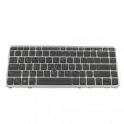 Клавиатура за лаптоп HP, съвместима със серия EliteBook 840 G1 850 G1, сива рамка, с подсветка