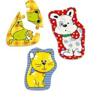 Vilac Set of 3 Wood Puzzles Animal