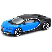 "Bburago 1/43 Street Fire (3.5"") Bugatti Chiron Toy Car - Blue"