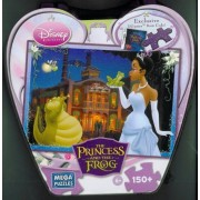 Disney Princess and the Frog Night Scene 150 Piece Puzzle and Heart Shaped Tin Box by Mega Puzzles