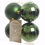 Geen Kerst kerstballen groen 10 cm Ambiance Christmas 4 stuks