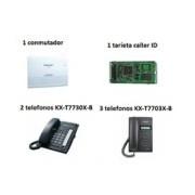 PAQUETE PANASONIC CONMUTADOR 1 KX-TES8241 KX-TE82494 2 KX-T7730X-B 3 T7703X-B TELEFONOS NEGROS