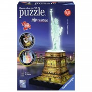 Ravensburger 3D-puzzel Statue of Liberty Night Edition - 108 stukjes