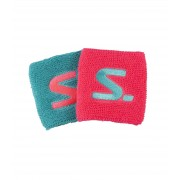Salming Wristband Short 2-pack Diva Pink/Turquoise