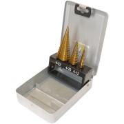 BOHRERSATZ S3 - Stufenbohrersatz, TiN, 4,0 - 32,0 mm, 3 -teilig