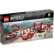 Set de constructie LEGO Speed Champions Garajul Suprem Ferrari