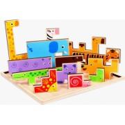 Joc din lemn Tetris Cu Animale 3D - Krista and reg
