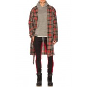 Fear of God Wool Robe in Checkered & Plaid,Neutrals,Red. - size S/M (also in L/XL)