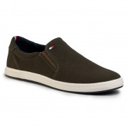 Гуменки TOMMY HILFIGER - Iconic Slip On Sneaker FM0FM00597 Army Green RBN