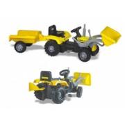 Tractor excavator cu pedale si remorca - Dolu