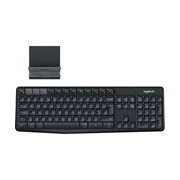 Logitech K375s Keyboard - Wireless Connectivity - USB Interface - Black, Charcoal