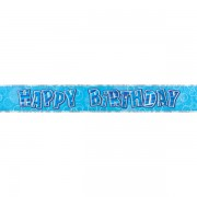 Party banner holografic Happy Birthday 3.6 m
