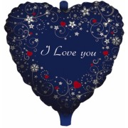 Balon Mylar Inima Albastra 45 cm Love Message Big Party