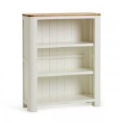 Oak Furnitureland Natural Oak & Painted Bookcases - Small Bookcase - Hove Range - Oak Furnitureland