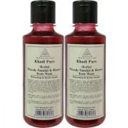 Khadi Pure Herbal Woody Sandal Honey Body Wash - 210ml (Set of 2)