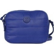 Tommy Hilfiger Women Casual Blue Synthetic Fabric Sling Bag