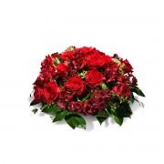 Interflora Centro de Condolências em Tons de Vermelho