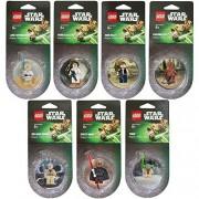 Lego Star Wars Magnet set of 7 Darth Maul Yoda Chewbacca Han Solo Luke Skywalker Obi-Wan Kenobi Princess Leia
