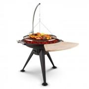 Blumfeldt Delion galg-grill eldstad ställning sele rostfritt stål Ø80cm