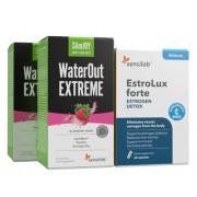 Sensilab Slim & Balance Paket Für ein Hormongleichgewicht sowie die Beseitigung von Wassereinlagerungen und Giftstoffen 2x WaterOut Extreme + EstroLux Forte 1-Monatspaket