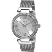 GUESS Silver Stainless Steel Round Dial Analog Watch For Women (W0638L1)