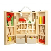 Baby Shelf Repair Tools Simulation Pretend Play-Wooden Tool Box Repair kit - Puzzle Toy