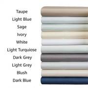Amazon Basics Juego de sábanas de algodón y rayón derivado de bambú Completo, Gris Oscuro