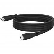 Louiwill Cable USB Tipo C (3.3 Pies / 1 M), USB 3.1 Tipo C A Tipo C Gen 2, Carga Rápida (100W / 5A) Y Sincronización (10 Gbps) Cable De Carga Para Nexus 5X / 6P, Nuevo MacBook Pro Y Otro Puerto USB Tipo C Dispositivos, Negro