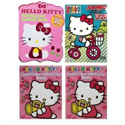 Set of 4 Hello Kitty 96 page & 64 Page Jumbo Coloring Books Over 300 Pages To Color