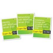 MCSA Windows Server 2016 Exam Ref 3-Pack: Exams 70-740, 70-741, and 70-742, Paperback