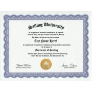 Sailing Sail Degree: Custom Gag Diploma Doctorate Certificate (Funny Customized Joke Gift - Novelty Item)
