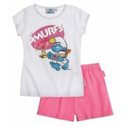Pijama Smurf pink