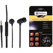 BrainBell Combo Of Ubon BM-03 BOMB UNIVERSAL BLAST YOUR MUSIC And HTC E9 plus Tempered Scratch Guard