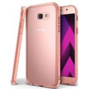 Protectie spate Ringke FUSION ROSE GOLD pentru Samsung Galaxy A5 2017 + BONUS folie protectie display Ringke (Roz/Auriu)