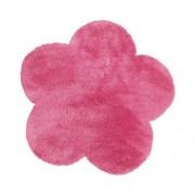 Covor Shaggy floare roz 60x60 cm