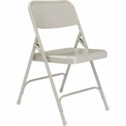 National Public Seating All Steel Folding Chairs - Set of 4, Grey, Model 202