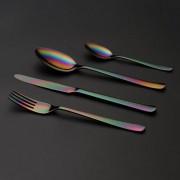 Комплект прибори за хранене HERDMAR OSLO с PVD покритие Rainbow (дъга) - 36 части