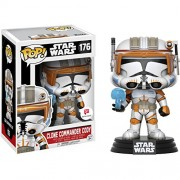Clone Commander Cody (Walgreens Exclusive): Funko Pop X Star Wars Vinyl Figure + 1 Official Trading Card Bundle (13251)