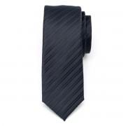 Férfi keskeny nyakkendő (1312-es minta) 8467 fekete és kék színben