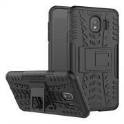 CaseExpert Samsung Galaxy J4 (2018) Funda, FoneExpert Heavy Duty Silicona híbrida con Soporte Cáscara de Cubierta Protectora de Doble Capa Funda Caso para Samsung Galaxy J4 (2018)