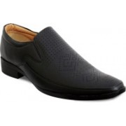 Feetway Lazer Design Formal Shoe Slip On(Black)