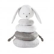 Maisons du Monde Estimulación para cuna de algodón gris y blanco