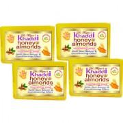 Dr. Thapars Premium Brand Herbal Khaddi Honey Almond Soap Buy 3 Get 4 ( 125 Grams Each )