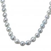 アコヤ真珠ナチュラルカラー 8mm珠 オールノット ロングネックレス【QVC】40代・50代レディースファッション