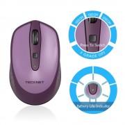 TeckNet M005 2.4G Wireless Mouse - малка безжична мишка (за Mac и PC) (лилава)