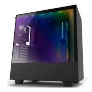 Кутия NZXT H500i CA-H500W-B1, ATX/mATX/mini-ITX, 2x USB 3.1 Gen1, страничен прозорец от закалено стъкло, черна, без захранване
