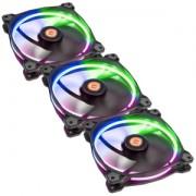 Set 3 ventilatoare 140 mm Thermaltake Riing 14 RGB LED Radiator Fan